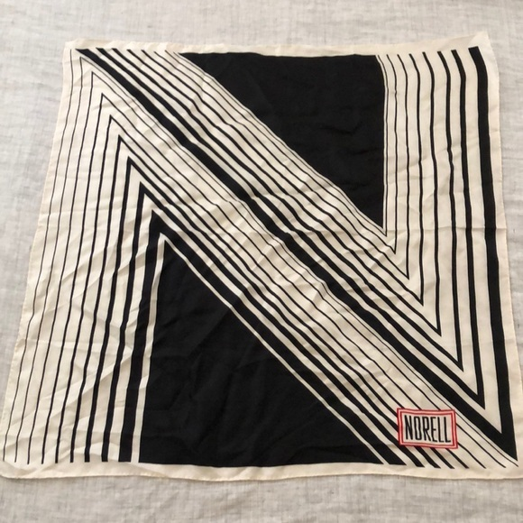 Vintage 1970s Norell silk scarf